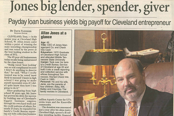Allan Jones | CEO and Founder of Check Into Cash, Inc
